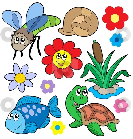 Small animals collection 5 stock vector clipart, Small animals collection 5 - vector illustration. by Klara Viskova