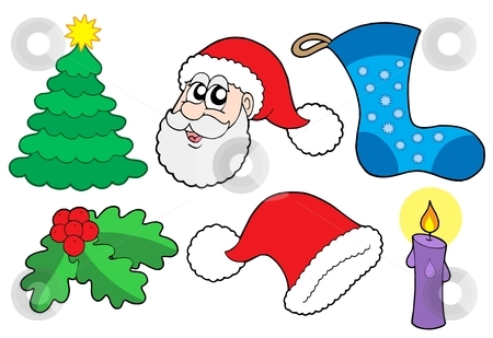 Christmas collection 2 stock vector clipart, Christmas collection 2 on white background - vector illustration. by Klara Viskova