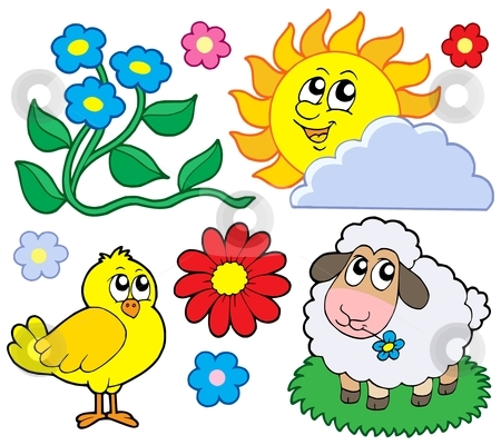 Spring collection 1 stock vector clipart, Spring collection 1 - vector illustration. by Klara Viskova