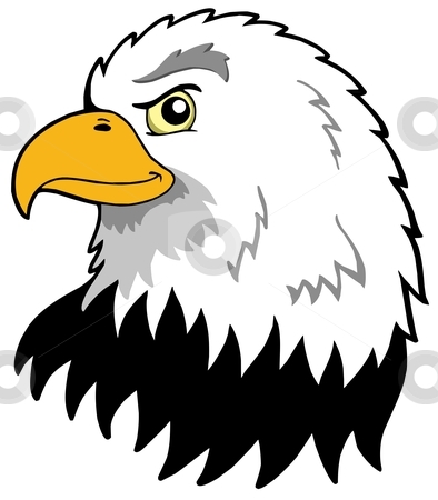 American eagles head stock vector clipart, American eagles head - vector illustration. by Klara Viskova