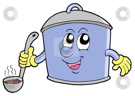 Cartoon cooker pot stock vector clipart, Cartoon cooker pot - vector illustration. by Klara Viskova