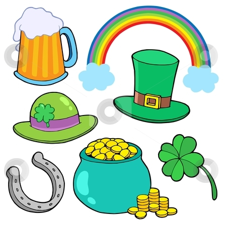 St Patricks day collection stock vector clipart, St Patricks day collection - vector illustration. by Klara Viskova