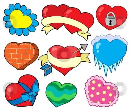 Valentine hearts collection 2 stock vector clipart, Valentine hearts collection 2 - vector illustration. by Klara Viskova