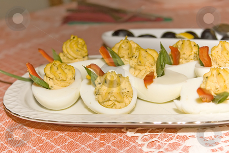 Deviled eggs stock photo, Deviled eggs by Minka Ruskova-Stefanova