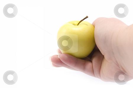 Hand with apple stock photo, Hand with apple by Minka Ruskova-Stefanova