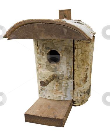 Birdhouse stock photo, Birdhouse isolated on white background by Minka Ruskova-Stefanova