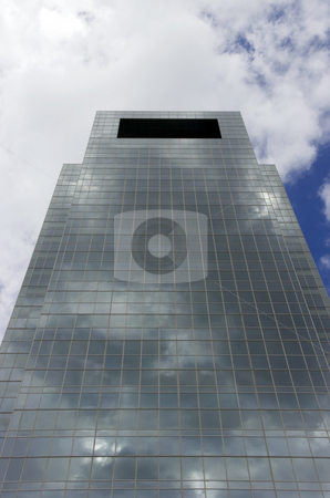 Skyscraper stock photo, A modern medical skyscraper reaching into the blue sky by Kevin Tietz