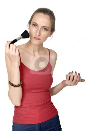 Makeup stock photo, Make up beautiful girl, isolated on white by Desislava Draganova