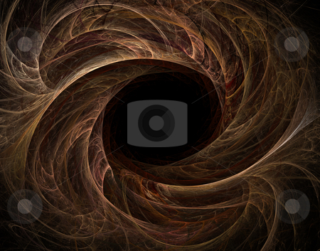 Abstract swirl stock photo, Abstract swirl thingon black background - illustration by J?