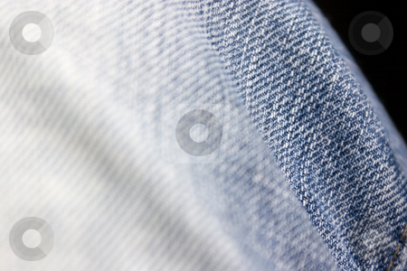 Close up on Blue Jeans stock photo, Wavy Blue Jean close-up by Mehmet Dilsiz