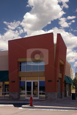 Strip Mall - Corner Store Restaurant stock photo, Strip Mall - Corner Store Restaurant by Mehmet Dilsiz
