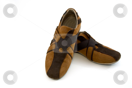 Modern Brown Sports Shoes stock photo, Isolated picture of a pair of Modern Brown Sports Shoes by Mehmet Dilsiz