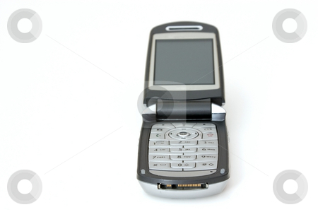 Isolated Cellular Phone stock photo, Isolated Celluar Phone with focus on the number pad by Mehmet Dilsiz