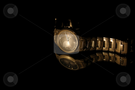Isolated Wrist Watch stock photo, Isolated Wrist Watch - Black Background by Mehmet Dilsiz