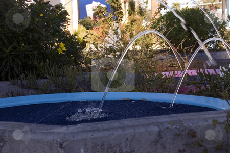 Jumping Waters stock photo, Landscape Design - Jumping Water Fountains by Mehmet Dilsiz