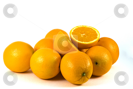 Ranges stock photo, Isolated Shot of a few Oranges - White Background by Mehmet Dilsiz