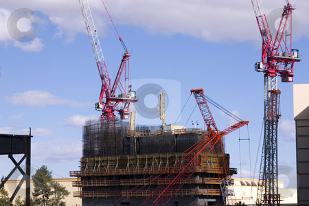 Construction site with Cranes in the strip in Las Vegas stock photo, Construction site Cranes in the strip in Las Vegas by Mehmet Dilsiz