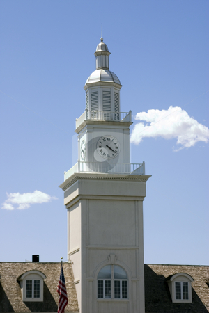 Clock Tower stock photo, Clock Tower in an old Train Station by Mehmet Dilsiz