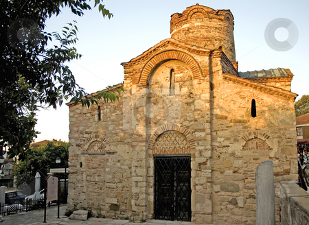 Ancient church stock photo, Ancient church in nessebar, bulgaria by Minka Ruskova-Stefanova