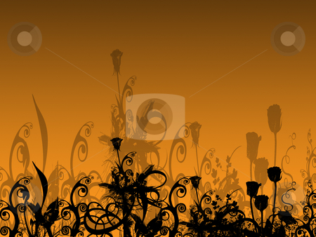 Abstract Flower Bed with Their Shadows on the Background stock photo, Abstract Flower Bed with Their Shadows by Mehmet Dilsiz