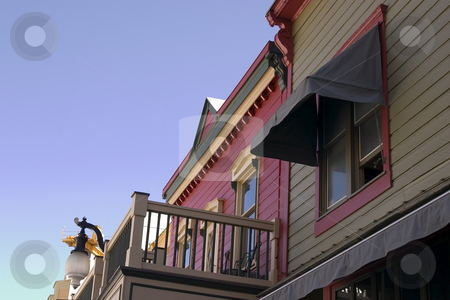 Close up on a Building  stock photo, Close up on a Building Balcony with Clear Skies in Park City, Utah by Mehmet Dilsiz
