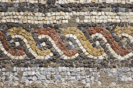 Roman mosaics stock photo, Mosaics of the roman villa of Pisoes near Beja, Alentejo, Portugal by Manuel Ribeiro