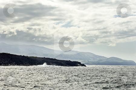 Volcanic coastline in  Azores stock photo, Volcanic coastline of Azores islands, Portugal by Manuel Ribeiro
