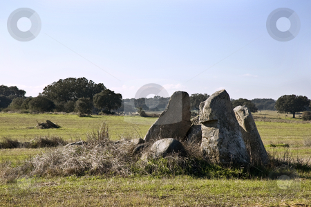 Dolmen of Chamine stock photo, Dolmen of Chamine near Evora, Alentejo,  Portugal by Manuel Ribeiro
