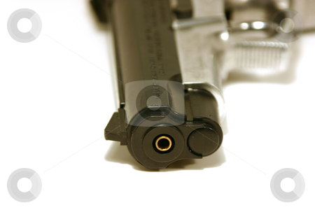 Up Close on a Gun stock photo, Close up shot on a BB Gun by Mehmet Dilsiz