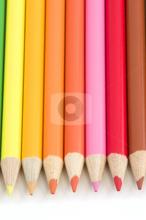 Coloring Pencils stock photo, Colored Pencils by Mehmet Dilsiz