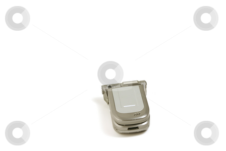 Isolated Cellular Phone - Focus on the Top stock photo, Isolated Celluar Phone Overwhite - Focus on the Top by Mehmet Dilsiz