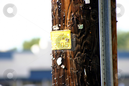 Electric Pole stock photo, Close up on Electric Pole by Mehmet Dilsiz