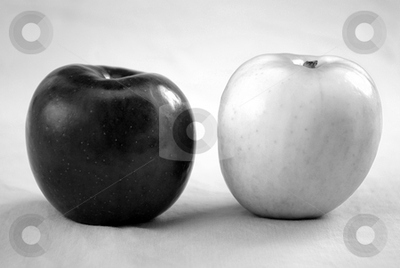 Black and White Apples 1 stock photo,  by Kristine Keller