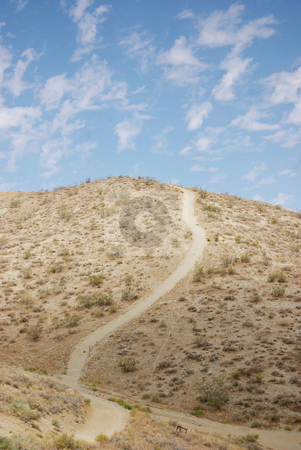 Curved Path on a Mountain stock photo,  by Kristine Keller