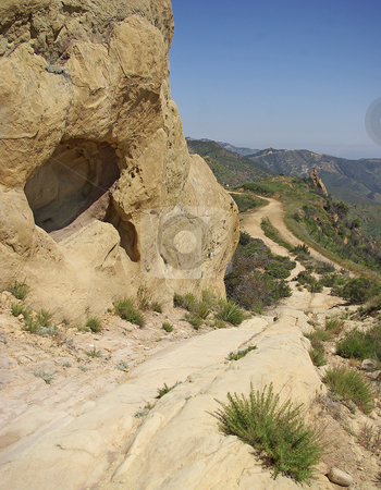 Rock Formations By A Trail stock photo,  by Kristine Keller