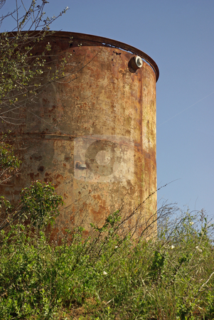 Abandoned Water Tank stock photo,  by Kristine Keller
