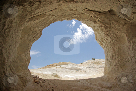 Mining Cave 1 stock photo, The opening of a mine in the Mojave Desert, California. by Kristine Keller