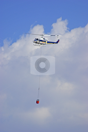 Helicopter with Bucket stock photo,  by Kristine Keller