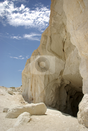 Mining Cave 2 stock photo, The opening of a mine in the Mojave Desert, California. by Kristine Keller