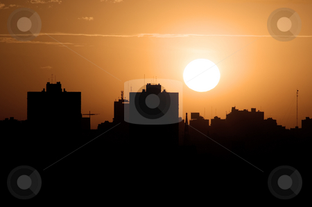 Sunset over the city, imgp0977 stock photo, Sunset over the cityscape. by Germán Ariel Berra