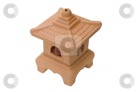 Terracotta Candle Burner stock photo, Terracotta garden candle burner with clipping path by Stephen Meese
