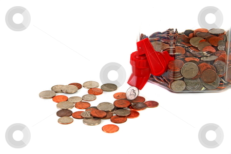 Dwindling assets stock photo, Savings depleting due to high economical costs by Jack Schiffer