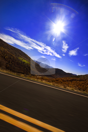 Drive by the Mountains stock photo, Drive by shooting in the Mountains by Mehmet Dilsiz