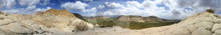 Panoramic View of Snow Canyon - Utah stock photo, Panoramic Shot of Snow Canyon in St. George, Utah by Mehmet Dilsiz