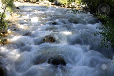River Running Through stock photo, Flowing water in River by Mehmet Dilsiz