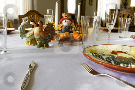 Getting Ready for the Thanksgiving Family Dinner stock photo, Family Dinner Time by Mehmet Dilsiz