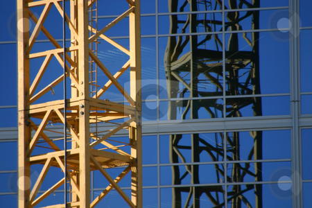 Construction site Crane stock photo, Construction site Crane - Zoomed in by Mehmet Dilsiz