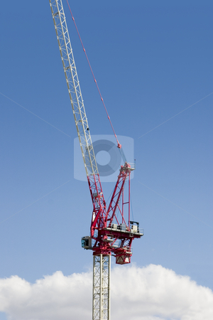 Construction site stock photo, Construction Site Crane by Mehmet Dilsiz