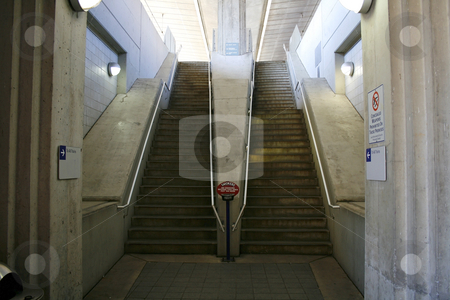 Subway Stairs stock photo, Subway Stairs in St. Louis by Mehmet Dilsiz