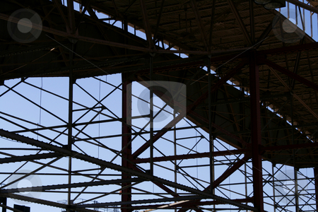 Looking at the blue sky through the roof  stock photo, Looking at the blue sky through the roof of Union Station in St. Louis Missouri by Mehmet Dilsiz